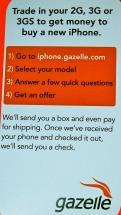 Gazelle Trade in iPhone Card